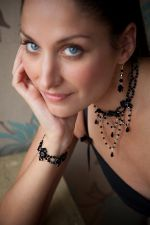 Lucy - Crystal Bead Statement Necklace (Jet Black) - Bespoke