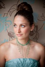 Felicity - Crystal Bead Statement Necklace (Erinite) - Bespoke