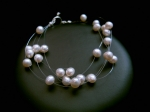 Denise - Floating Pearl Wedding Bracelet - Bespoke