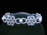 Donna - Crystal & Pearl Beaded Wedding Bracelet - Bespoke