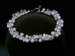 Laura - Crystal & Pearl Wedding Bracelet
