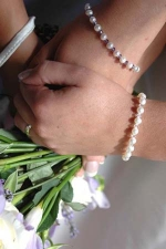 Ashley - Pearl & Crystal Wedding Bracelet - Bespoke