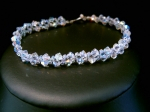 Shelley - Sparkly Crystal Beaded Wedding Bracelet - Bespoke