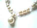 Angel - Swarovski Pearl & Crystal Drop Wedding Necklace