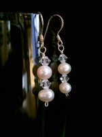 Ashley - Pearl & Crystal Drop Wedding Earrings - Bespoke