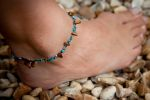 Tiger Eye Ankle Chain (Turquoise)