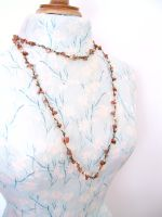 Gold Sandstone Long Wrap Necklace