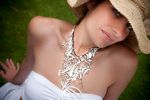 Mother of Pearl Statement Necklace (Ivory)
