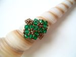 Crystal Beaded Fashion Ring (CR2F Emerald Green)