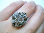 Crystal Beaded Fashion Ring (CR2F Hematite)
