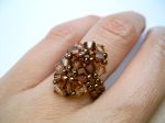 Crystal Beaded Fashion Ring (CR2F Chocolate)