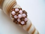 Crystal Beaded Fashion Ring (CR2F Pink & Brown)