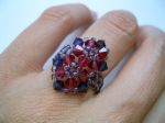 Crystal Beaded Fashion Ring (CR2F Purple & Ruby)