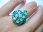 Crystal Beaded Fashion Ring (CR2F Sea Breeze Blue)