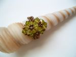 Crystal Beaded Fashion Ring (CR2F Light Olivine)