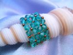Crystal Beaded Fashion Ring (CR2R Blue Zircon)