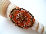 Crystal Beaded Fashion Ring (CRFF Brown & Indian Red)