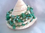 Turquoise & Crystal Bead Wrap Fashion Bracelet (DCNL15B)