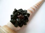 Black Onyx Beaded Cluster Fashion Ring