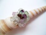 Fluorite Beaded Cluster Fashion Ring