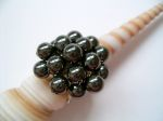 Hematite Beaded Cluster Fashion Ring