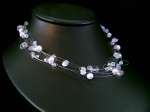 Davina - Delicate Crystal & Pearl Wedding Necklace - Bespoke