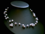 Denise - Floating Pearl Wedding Necklace