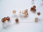 Delia - Crystal Wedding Necklace (Latte)