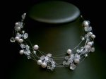 Elizabeth - Delicate Crystal & Pearl Wedding Necklace - Bespoke