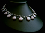 Ellie - Button Pearl & Crystal Wedding Necklace - Bespoke