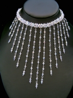 Felicity - Statement Crystal Cascade Wedding Necklace - Bespoke