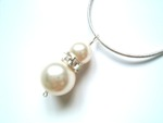 Fern - Swarovski Pearl Drop Pendant Wedding Necklace