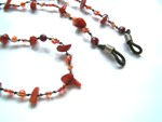 Red Coral Beaded Spectacle String (Red)