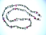 Fluorite Beaded Spectacle String (Green & Pink)
