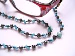 Hematite Beaded Spectacle Chain (Blue)