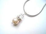 Gail - Swarovski Pearl & Crystal Drop Wedding Necklace