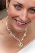 Theodora - Sparkly Crystal Pendant Wedding Necklace - Bespoke