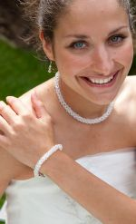Claudia - Sparkly Crystal Twist Wedding Bracelet