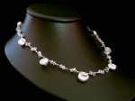 Jasmine - Delicate Pearl & Crystal Wedding Necklace - Bespoke