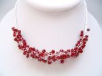 Lola - Crystal Bead Party Necklace (Siam Red) - Bespoke