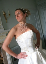 Nicky - Statement Choker Cascade Wedding Necklace - Bespoke