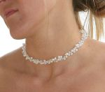 Laura - Pearl & Crystal Wedding Necklace