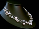 Leanna - Pearl & Crystal Wedding Necklace - Bespoke