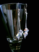 Lulu - Sparkly Crystal &#39Cherries&#39 Drop Wedding Earrings -