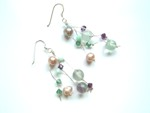 Pearl & Crystal Bead Drop Earrings (MOBE8)