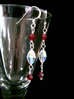 Melanie - Crystal Drop Wedding Earrings (Scarlet) - Bespoke