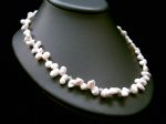 Nora - Single Strand Pearl & Crystal Wedding Necklace - Bespoke