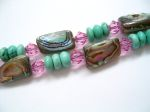 Exclusive Paua Shell & Turquoise Bracelet
