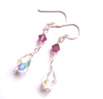 Swarovski Crystal Teardrop Earrings - Bespoke