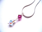 Olivia - Sparkly Crystal Teardrop Pendant Necklace - Bespoke